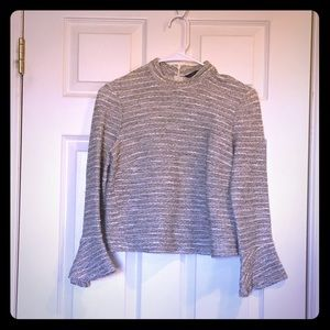 Zara cropped sweater top women's small